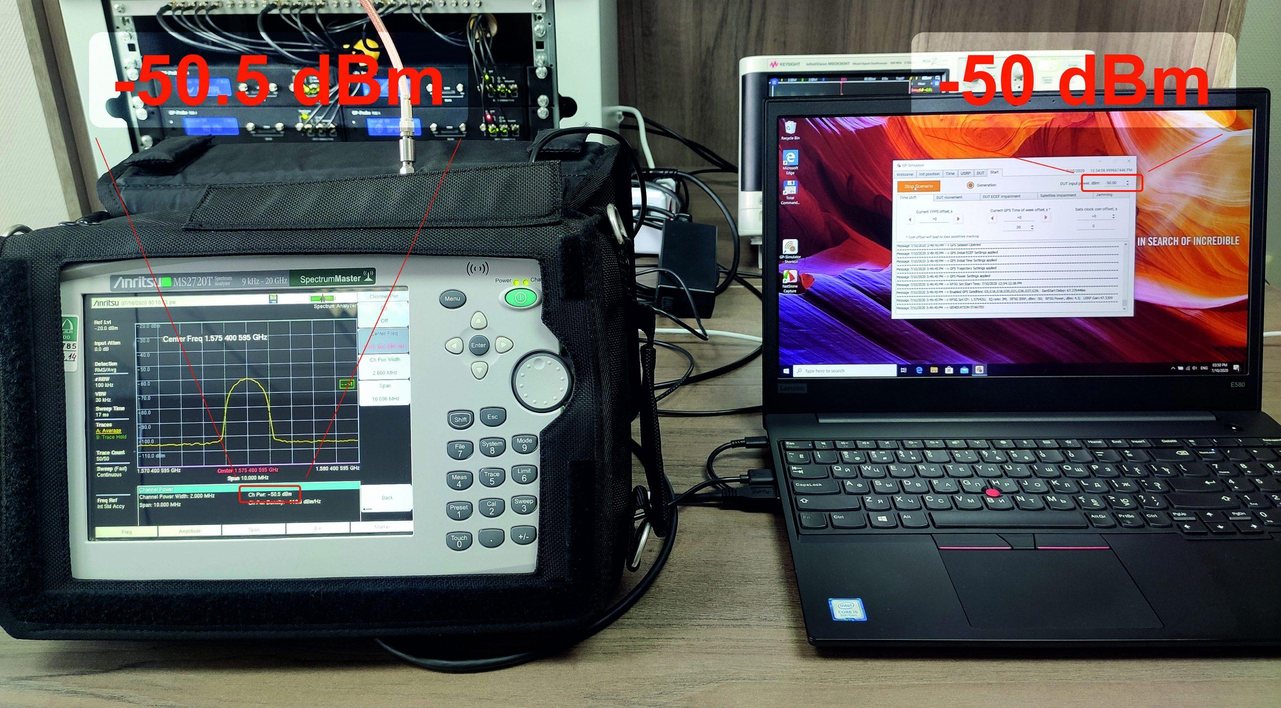 GPS Signal Power Level Calibration