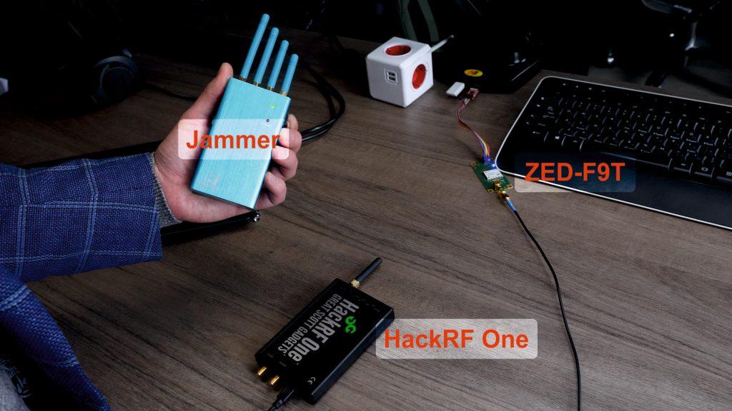 GNSS spoofing test setup