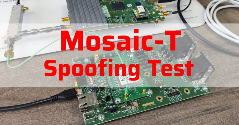 GPS Spoofing Test of Septentrio Mosaic-T - Article ICO with description